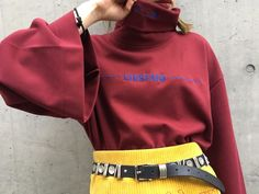 FIRSTAID HIGH NECK TOPS -BURGUNDY- - M.Y.O.B NYC ONLINE STORE