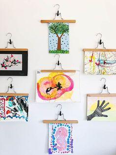 How to Set Up a Kids' Art Gallery in 10 Minutes #kidsart #kidscrafts #kidshome #artgallery #kidsartwork