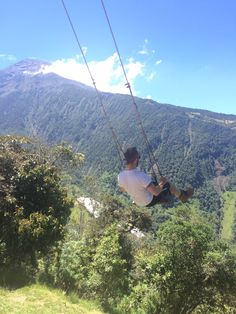 Swing at the end of the world! Banos, Ecuador