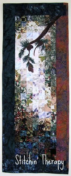 Twilight ---a wall hanging made for a friend The Window Box ---inspired by a photo in a magazine. This is the first waterco...