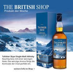 Jetzt haben wir Fernweh (oder Heimweh?) nach Skye bekommen. Da wir leider nicht direkt in den nächsten Flieger springen können, haben wir den Talisker Skye Single Malt Whisky als unser Produkt der Woche gekürt, da er den Geschmack des Meeres in einer rauchig-süßen Note einfängt.