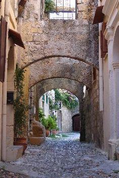Rhodes Town cobbled street