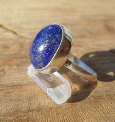 lapis lazuli ring-natural stone silver sterling silver ring-solid silver ring-energy stone ring-adjustable ring by ARTEAMANOetsy on Etsy Lapis Lazuli Healing, Adjustable Ring, Blue Rings, Stone Rings, Crystal Healing, Sterling Silver Rings, Crystals, Natural, Etsy