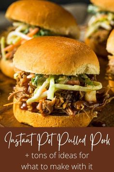 An easy recipe for the best damn Instant Pot Pulled Pork ever! Plus so many ideas for what to do with it! Make tacos, nachos, loaded fries, sliders, grilled cheese, mac and cheese, and more. Learn what cut of meat to buy, how to shred it, and even what sides to serve it with. You won't find a better pulled pork recipe or more tips and tricks than right here! #instantpotpulledpork #pulledporkrecipe #thewickednoodle Pork Recipes For Dinner, Pulled Pork Recipes, Easy Delicious Recipes, Yummy Food, Nachos Loaded, Instant Pot Pressure Cooker, Sliders, Hamburger, Fries