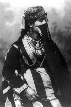 Egyptian woman.  ca. 1890 - 1923 | Vintage print, photographer unknown
