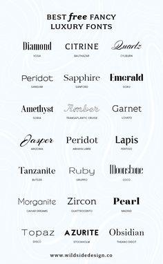 Best Free Luxury Fonts