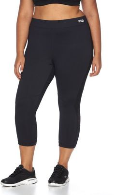 Plus Size FILA SPORT® Synergy Capri Running Leggings *** Check out the image by visiting the link.