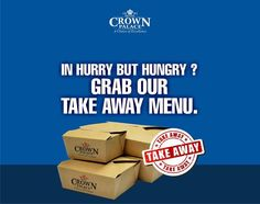Whenever you are in rush step down to Hotel Crown Palace and get our delicious and mouth relishing take away menu. Call : 0731 2528875 - http://ift.tt/1HQJd81