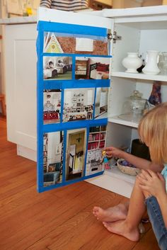 love this dollhouse idea from Dinner: A Love Story! someday...