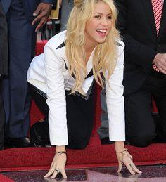 Shakira şöhretler kaldırımında