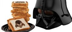 Start your day on the dark side with this evil Darth Vader toaster