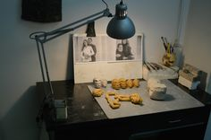 Some wax models on my work desk