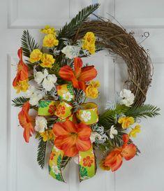 Hawaiian Luau Fiesta Wreath