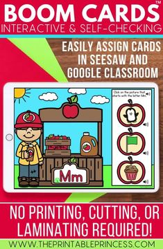 You will love these no prep Boom Cards that will help your kindergarten students practice their letter knowledge. They are self-checking and super engaging! Students will enjoy using these in literacy centers or from home! Assign them to Seesaw or Google Classroom!