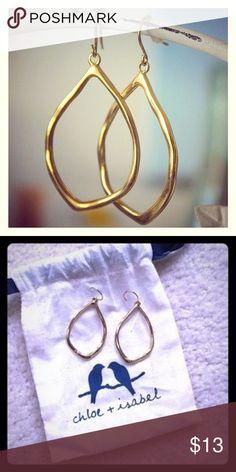 """Chloe + Isabel organic Teardrop earrings 12k GP Chloe + Isabel organic teardrop earrings. 1.6"""" drop. 12k gold plating. Retired Chloe and isabel Jewelry Earrings"""