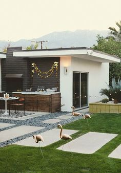 II love the gravel and paver patio....Beach Chic Design