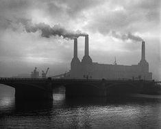 René Groebli. Battersea Power Station, London, 1949