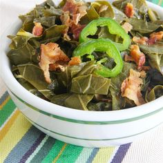 If you're a greens lover, try this slow cooker recipe. Slow Cooked Collard Greens made with chicken stock, jalapeños & bacon are as good (I think better) than you'll find anywhere. Slow Cooker Soup, Slow Cooker Recipes, Crockpot Recipes, Oven Recipes, Easy Recipes, Chicken Recipes, Recipies, Dinner Recipes, Side Dishes Easy