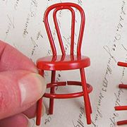 Miniature Red Metal Chair*