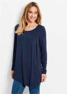Shirt, Langarm dunkelblau - bpc bonprix collection jetzt im Online Shop von bonprix.de ab ? 14,99 bestellen. Vorne mit einer Kellerfalte, die dem Shirt eine ...