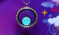 Sparkling Light Blue Statement Floating Charm  SUPER by RepliKitty, $2.00