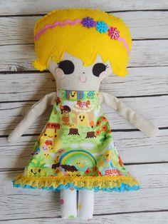 Softie Handmade Doll Hazel by MsBittyKnacks on Etsy