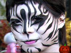 Animal Face Art, Beastly Makeup | Face Art, Portraits & Mug Shots   Tube maquillage blanc: http://www.feezia.com/univers/accessoires-de-fete/maquillage-1/tube-fard-blanc.html  noir: http://www.feezia.com/univers/accessoires-de-fete/maquillage-1/tube-fard-noir.html