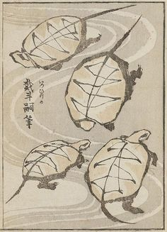 Katsushika Hokusai, Leaf from an album of drawing with one stroke of the brush 1823