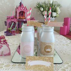 A festa da minha princesa | Shopping for my babies; princess party; 4 years; milk bottle