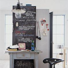 Infowand im Arbeitszimmer - Selber machen: Möbel verschönern - [LIVING AT HOME]