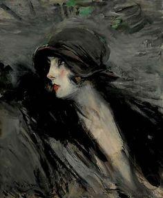 """'Ritratto di Suzy (Portrait of Suzy)' by Italian painter & """"Master of Swish"""" Giovanni Boldini (1842-1931). via French Sampler"""
