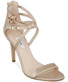929fab3e73c1 GUESS Women s Laellay Sandals comes in nude and pewter Guess Shoes