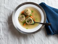 These matzo balls are easy to make and wonderfully light and fluffy. Feel free to skip the carrot and onion if you're a purist.