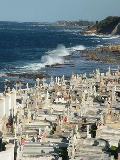 San Juan, Puerto Rico.  Yes, the cemeteries really are on the ocean like that.