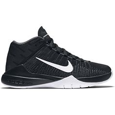 watch 82c0f 42af8 Boy s Nike Zoom Ascention (Gs) Basketball Shoe Black White Size 6 M Us