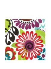 Modern Floral Lunch Napkins - Party City