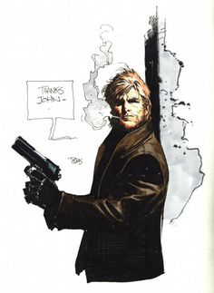 Travis Charest Pinup Comic Art