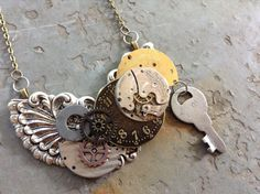Hey, I found this really awesome Etsy listing at https://www.etsy.com/listing/231940254/steampunk-necklace-collage-jewelry