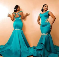 Sexy African Evening Dresses Mermaid Long Sweep Vestidos De Novia V Neck Applique Backless Prom Formal Gowns · loverlovebridal · Online Store Powered by Storenvy African Evening Dresses, African Print Dresses, Mermaid Evening Dresses, African Fashion Dresses, African Attire, African Dress, Ghanaian Fashion, African Wear, African Prints