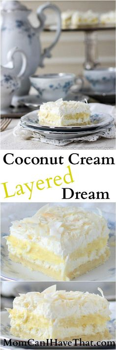 Coconut Cream Layered Dream is made from wholesome ingredients and is 6 net carbs low carb gluten-free keto thm-s Coconut Cream Layered Dream is made from wholesome ingredients and is 6 net carbs low carb gluten-free keto thm-s Sugar Free Desserts, Gluten Free Desserts, Delicious Desserts, Dessert Recipes, Yummy Food, Keto Desserts, Coconut Recipes, Low Carb Recipes, Cooking Recipes