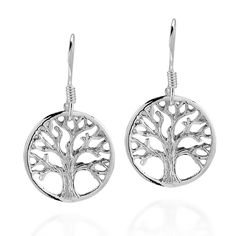 Immortal Tree of Life .925 Sterling Silver Dangle Earrings ** Check this awesome jewelry pin  : trend jewelry 2016