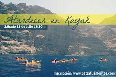 Atardecer en Kayak en Los Gigantes, Tenerife. Patea Tus Montes