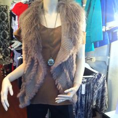 The ultimate fur vest for Autumn/Winter. In store now @ white pony.
