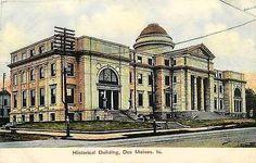 Des Moines Iowa IA 1913 State Historical Memorial Art Building Vintage Postcard