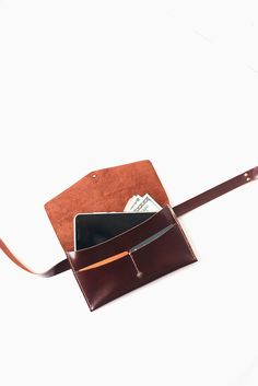 Belt bag leather brown leather waist bag leather by TOMBERgoods