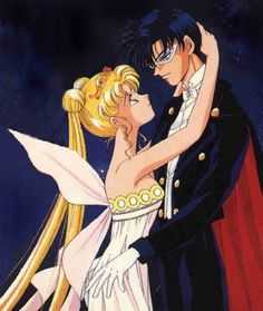 "Usagi Tsukino (Sailor Moon) Mamoru Chiba (Tuxedo Mask) in the rain from ""Sailor Moon"" series by manga artist Naoko Takeuchi. Description from pinterest.com. I searched for this on bing.com/images"