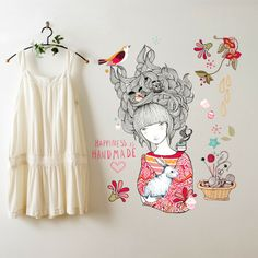 Lady Desidia #Happiness is handmade #illustration as a wall paper