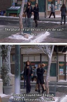 Culs-de-sac. I don't know when I will ever be using this word in my life, but I will know how to properly pluralize it.