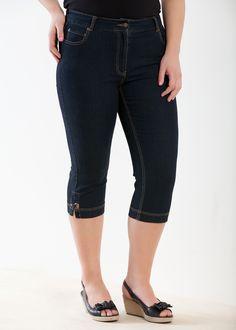 Fashion Plus Size - Large Size Womens Clothes, Tops & Dresses | Fashionable Plus Size Clothes - BOYMUDA CROP JEAN - Virtu