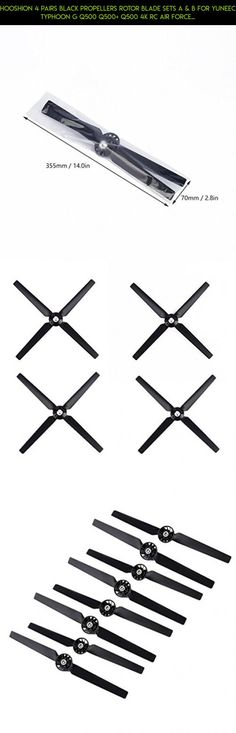 Hooshion 4 Pairs Black Propellers Rotor Blade Sets A & B for YUNEEC Typhoon G Q500 Q500+ Q500 4K RC Air Force Airplane Helicopter Propeller Quadcopter Drone(Black) #tech #technology #parts #gadgets #accessories #yuneec #drone #plans #camera #fpv #shopping #kit #racing #products